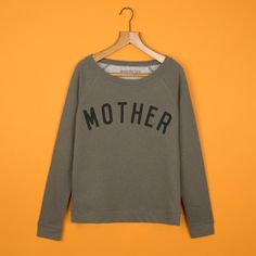 MOTHER Moss Scoop Neck Sweatshirt