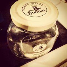 A mint jar, well minus the mints #mints #tin #jar #mrsbridges #scottish #uk #scotland #glass #old #retro #food #sweets #emptyjar