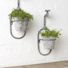 Vintage Style Single Tap Wall Planter - gardening