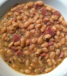 Crockpot White Bean and Ham Soup | FOOD AND COOK