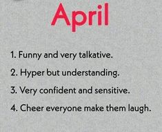 April Birth Month Personality, Sayings, Lyrics, Quotations, Idioms, Quote, Proverbs
