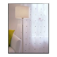 ALÄNG Floor lamp, nickel plated, white nickel plated/white -
