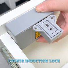 """""""☘☘Smart induction drawer lock provide good security protection for your personal belongings.😍😍 ✨✨The latches and tongues are made of metal, sturdy and durable. ✨✨You can use one key (RFID card/hanger Woodworking Crafts, Woodworking Plans, Woodworking Shop, Porte Diy, Casa Top, Ideas Hogar, Wooden Hangers, Diy Décoration, Cool Inventions"""