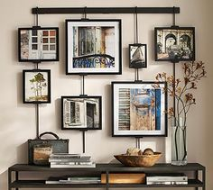 One day my son's signed Kobe Bryant jersey will go home with him. Here's an idea to grace that family room wall. I love family and vacation pictures. Studio Wall Easel #potterybarn
