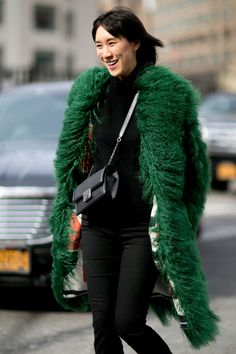 Catch Up on All of NYFW's Best Street Style From Last Season Day 2 Eva Chen