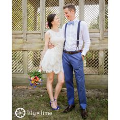 We're in love with this bride's wedding day cocktail dress! How will you be keeping cool at your warm weather wedding?