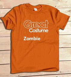 411b984b1fa Great Costume Zombie Funny Generic Halloween Party Costume Tshirt Funny  Graphic Tee Typography Geek Carnitas