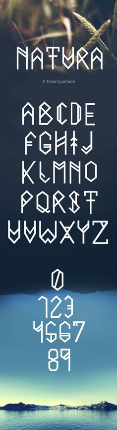 Natura typeface by Filipe Rolim, via Behance