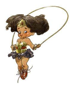Pequenos Heróis de Alberto Varanda - Mulher Maravilha