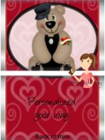 Personalized Miniatures for Valentine's Day.   $6.00 for 30 wrappers