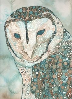 Barn Owl Print By Tamara Phillips Art And Illustration, Illustrations Posters, Creative Illustration, Art Visage, Inspiration Artistique, Owl Print, Watercolor Artwork, Owl Watercolor, Bird Art