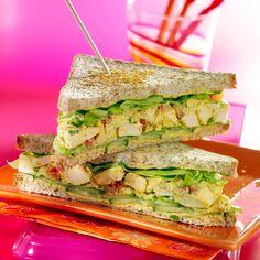 Découvrez la recette du club sandwich au poulet