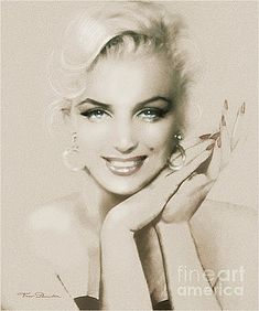 Theo Danella Painting - Mm 133 Sepia by Theo Danella Marilyn Monroe Wallpaper, Marilyn Monroe Drawing, Marilyn Monroe Photos, Marylin Monroe, Marilyn Monroe Tattoo, Photo Portrait, Portrait Art, Old Hollywood Stars, Illustration