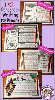 From prompt to final draft, here is a step-by-step process to help your students write opinion, informative, and narrative paragraphs. Especially for first and second grade!