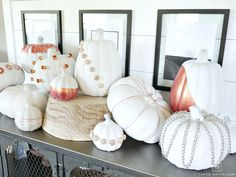 Would you believe these DIY Industrial Chic Pumpkins are made entirely from items you can find at the hardware store? Click the link to see how! Industrial Pipe Shelves, Industrial Chic, Dollar Store Hacks, Dollar Stores, Easter Egg Crafts, Easter Eggs, Seasonal Decor, Fall Decor, Autumn Home
