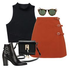 """""""Sin título #1232"""" by camilae97 ❤ liked on Polyvore featuring Topshop, M&Co, Yves Saint Laurent and Karen Walker"""