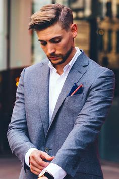 Ready. Class. Good style. Mens outfit