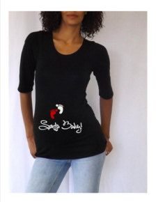 46796bfae07 Items similar to Black Christmas Maternity Shirt Tee Top