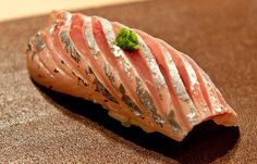 Aji - horse mackerel. Another delicious type of nigiri sushi.