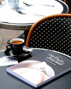 Coffee, book, morning
