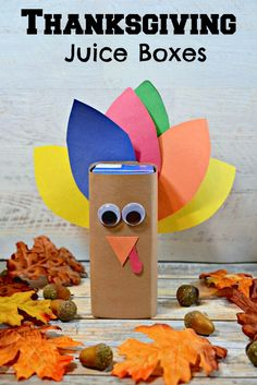 EASY Preschool Thanksgiving themed Turkey Juice Boxes - these are so adorable for school classroom parties
