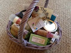 Easter basket full of bath and body products on Etsy, $35.00