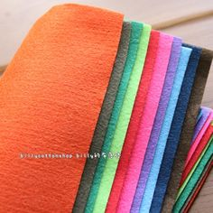 w509_95 - Wool Felt Sheets - scrap bundle - (30cm x 30cm) X 10 pieces by billycottonshop0413 on Etsy