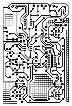 Steampunk Vintage Circuit Board Clear Stamp Clearstamp Texture. $7.99, via Etsy.