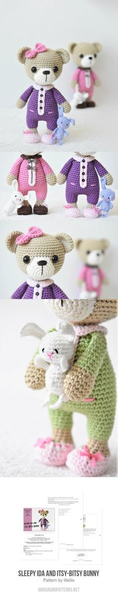 Sleepy Ida And Itsy-bitsy Bunny Amigurumi Pattern