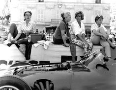 Pit Lane Ladies, occupied by wives, girlfriends, sisters and the occasional mother
