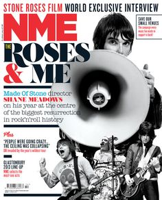 NME Magazine cover, The Stone Roses, April 6th 2013 Nme Magazine, Magazine Covers, Shane Meadows, Sigur Ros, Primal Scream, Film World, Stone Roses, Weezer, Salford