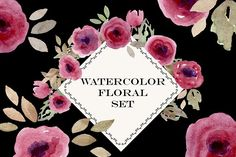 Watercolor Flowers Roses Set - Illustrations