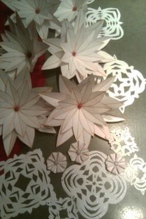 Hand crafted paper Christmas decorations