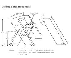 Leopold Bench Instructions