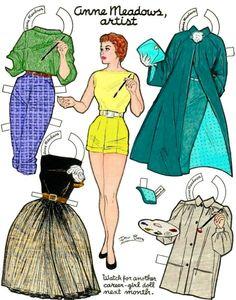 """Anne Meadows, Artist:  Career Girls"" from a children's magazie"