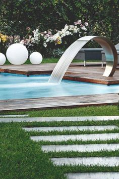 Stock Tank Swimming Pool Ideas, Get Swimming pool designs featuring new swimming pool ideas like glass wall swimming pools, infinity swimming pools, indoor pools and Mid Century Modern Pools. Find and save ideas about Swimming pool designs. Amazing Swimming Pools, Swimming Pool Designs, Cool Pools, Modern Backyard, Backyard Landscaping, Garden Modern, Backyard Pools, Backyard Ideas, Swimming Pool Landscaping