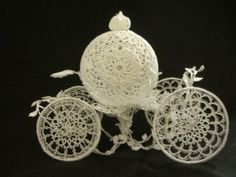 "Special public ""- Tribute to the horse-drawn carriage - Cinderella of Tatting"" - Knitting OTOKO"