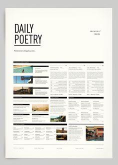 Daily Poetry by Clara Fernández, via Behance