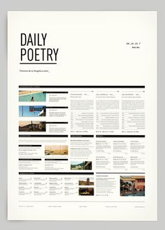 Daily Poetry by Clara Fernández, via Behance. Gridded