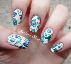 leadlight stamping manicure, moyou london doodles plate