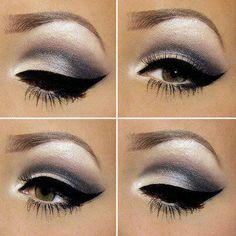 white shadow/smokey eye