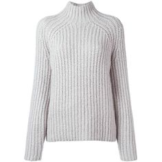 Theory Rifonia turtleneck jumper (€480) ❤ liked on Polyvore featuring tops, sweaters, jumpers sweaters, grey turtleneck, polo neck sweater, gray turtleneck sweater and theory sweater