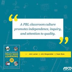 Learn more on how to create a #PBL classroom culture from the book, Setting the Standard for Project Based Learning: A Proven Approach to Rigorous Classroom Instruction.