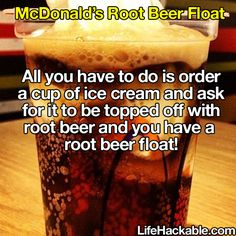 Only certain regions actually have root beer but you can substitute any other flavor.