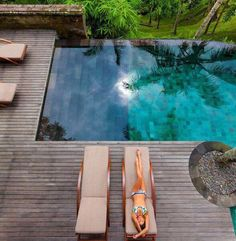 Pool ideas - Home and Garden Design Idea's Amazing Swimming Pools, Swimming Pools Backyard, Garden Pool, Cool Pools, Pool Landscaping, Jacuzzi, Outside Pool, Bad Inspiration, My Pool