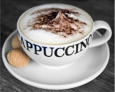 Good Morning with Cappuccino! I Love Coffee, Coffee Art, Coffee Break, My Coffee, Coffee Drinks, Morning Coffee, Coffee Shop, Coffee Lovers, Cappuccino Coffee