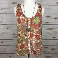 "[MINKPINK] Bohemian Like You Tank Top Paisley Boho Lightweight and breezy tank, perfect for summer! Pull-over style. Hi low hem. Button front. Looks great with your favorite cutoffs!  Fabric: 100% Polyester  Bust: 20"" Length: 23"" in front 28"" in back. Condition: EUC. No flaws.  No Trades! MINKPINK Tops Tank Tops"