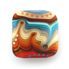 Etsy Transaction - Handmade Lampwork focal bead (1) FREE WORLDWIDE SHIPPING