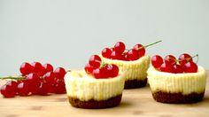 Gebakken kwarkcupcakes met rode bessen | Toetjes en Taarten