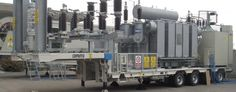 HV Mobile Substation. Subestacion Movil de Alta Tension. Mobile Substations on Trailer. HV module, Power transformer, MC panels, Auxiliary services ad/dc, control, monitoring and protection are mounted on the trailers. Mobile Substations mainly feed MV systems with standard MV distribution panels or, in order to optimise space, with SF6 insulated panels. MV cables for connection to the transformer and to lines. HV Mobile Substation Latin America. Subestacion Movil Latino America.